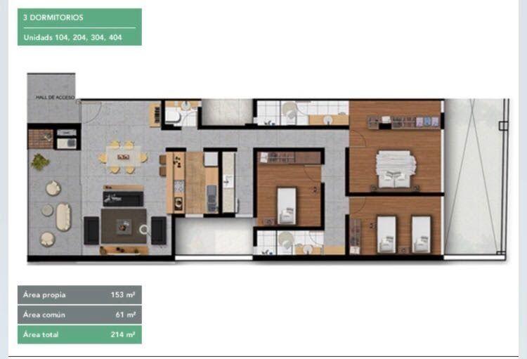 Apartamento en alquiler Avdaprimer Presidente 3 dormitorios