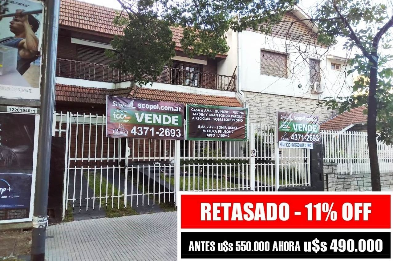Casa en venta Villa Devoto 6 ambientes